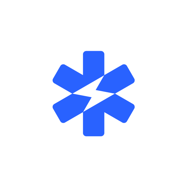 Star of Life symbol combined with lighting bolt