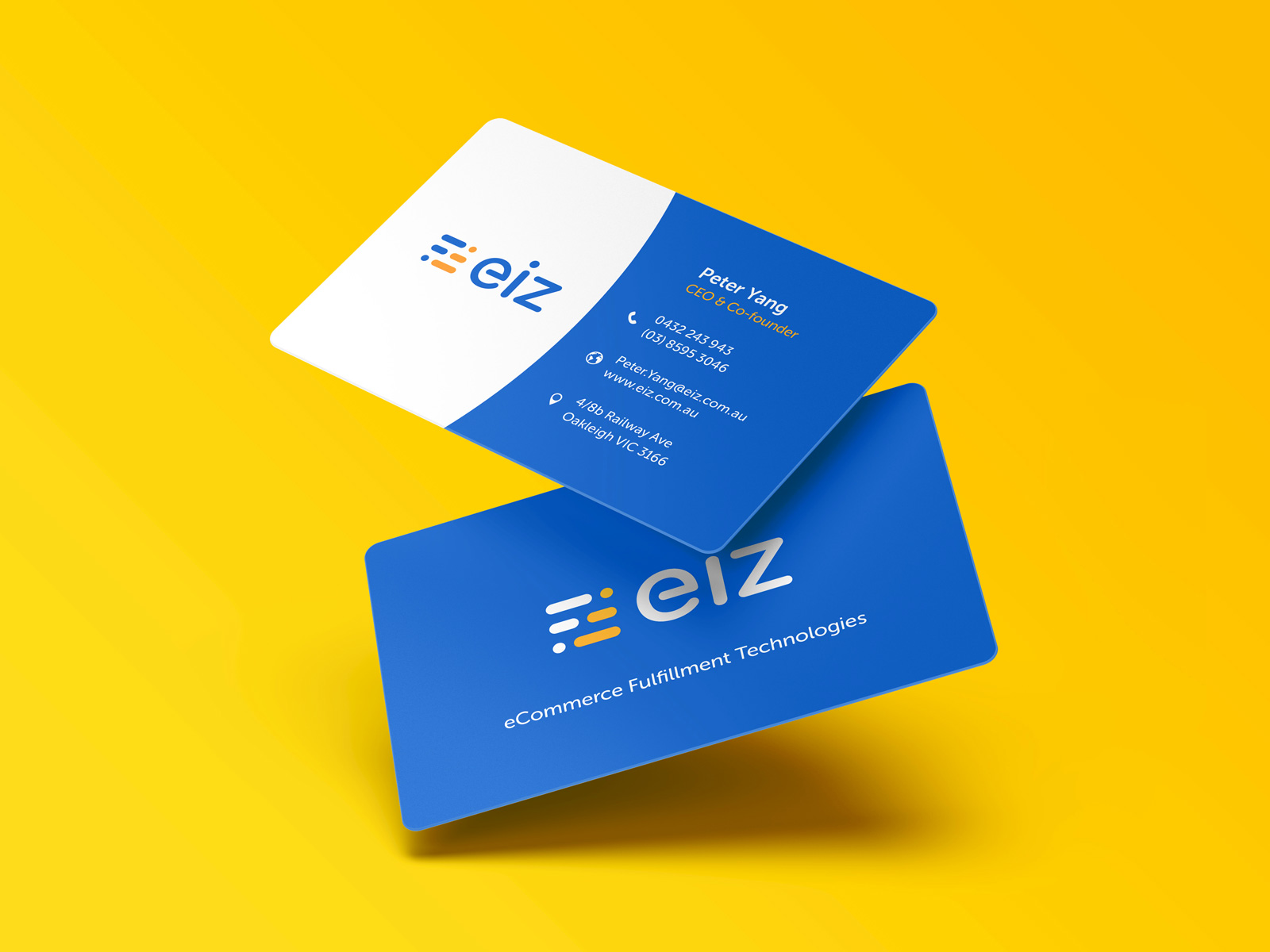 modern business card design with rounded corners
