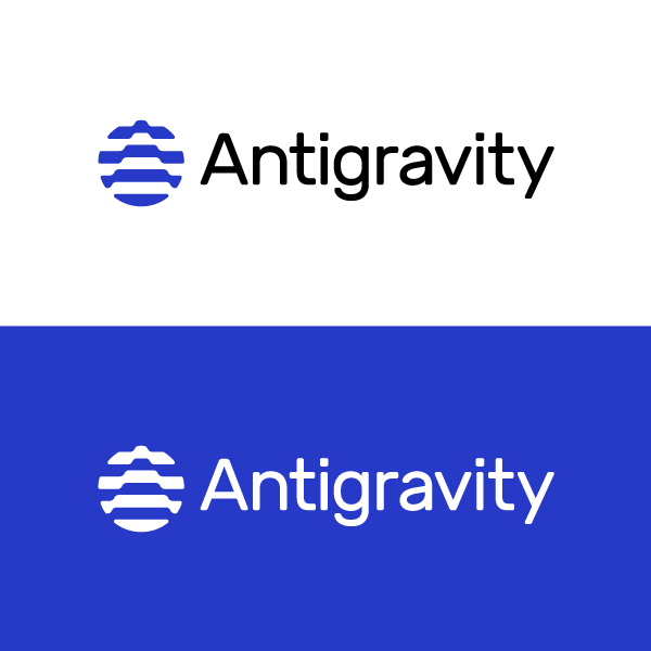 creative logo based on a letter with antigravity aspect