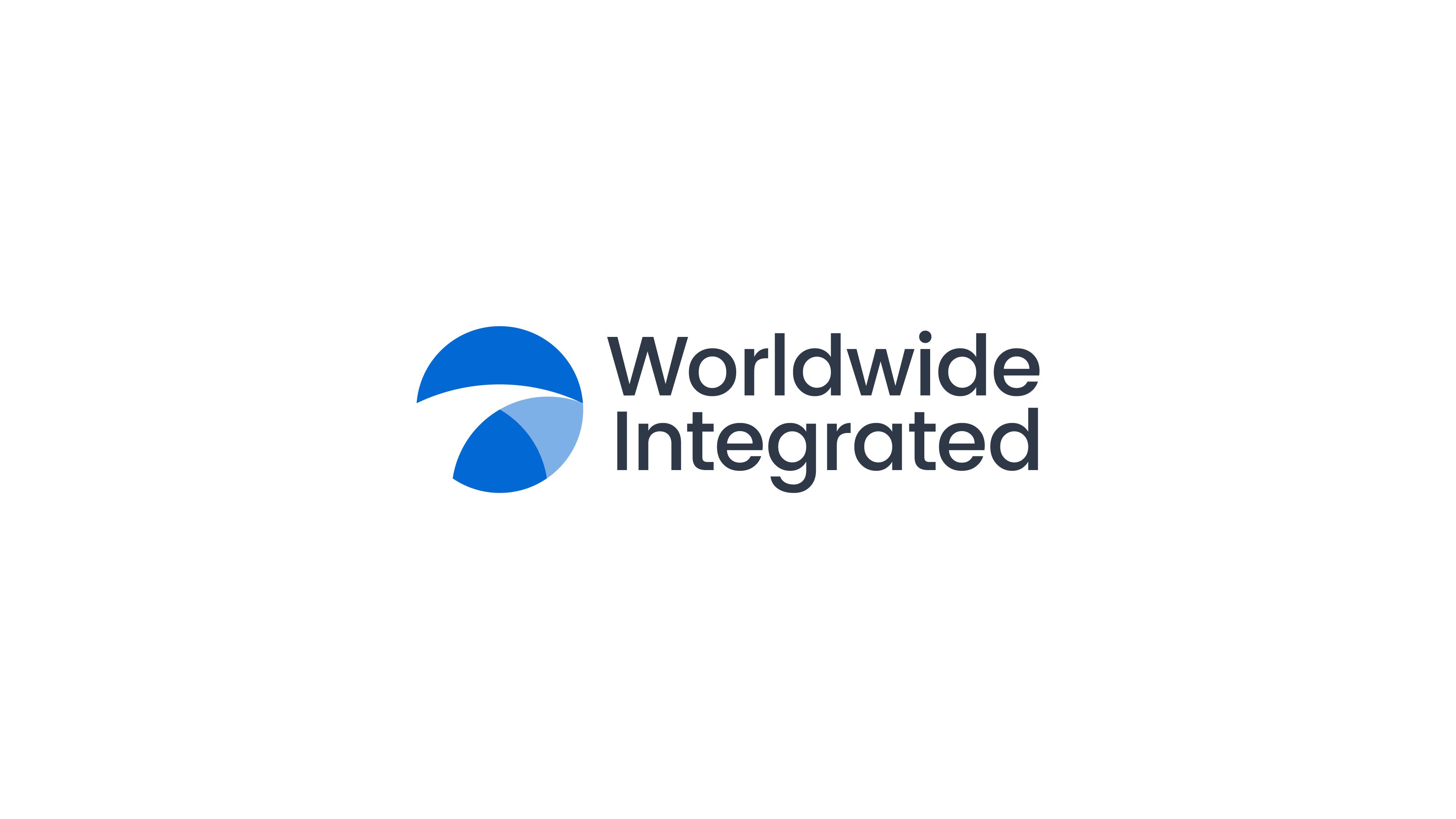 creative logo with abstract bridge inside